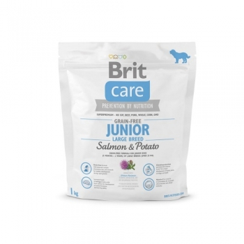 Brit Care Grain-Free Junior Large Breed Somon si Cartofi, 1 kg