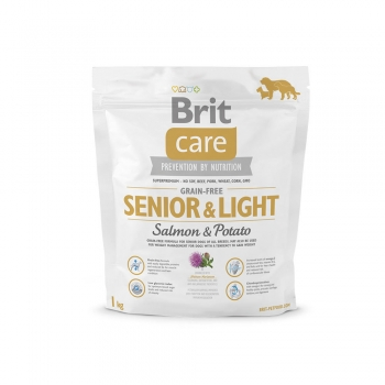 BRIT CARE GRAIN-FREE SENIOR SOMON SI CARTOFI 1 KG