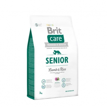 Brit Care Senior All Breed Miel si Orez 3 kg