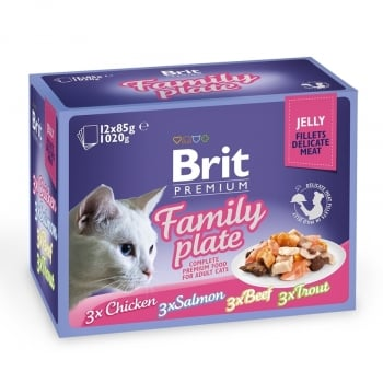 Brit Cat Multipack Delicate Family Plate In Jelly 12 X 85 G