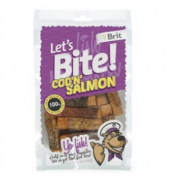Brit Let's Bite Cod'n'Salmon, 80 g