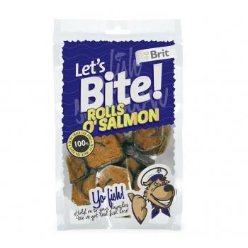 Brit Let's Bite Rolls O'Salmon, 80 g