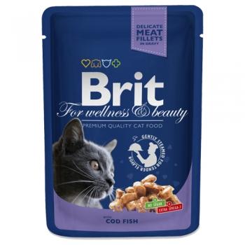 Brit Prem.Cat Plic cu Carne de Cod, 100g