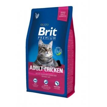 Brit Premium Cat Adult cu Pui, 8 kg