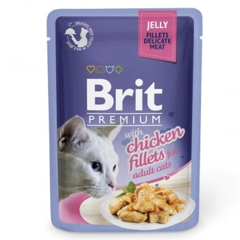 Brit Cat Delicate Chicken in Jelly 85 g imagine