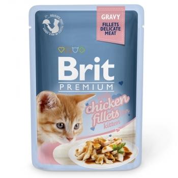 Brit Premium Kitten Delicate Pui in Sos, 85 g