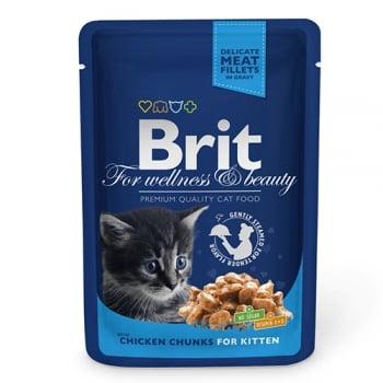 Brit Premium Cat Junior plic cu carne de pui 100 gr