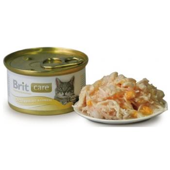 Brit Care Pisica Chicken Breast and Cheese conserva 80 gr