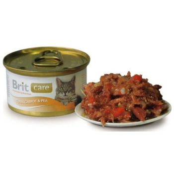 Brit Care Pisica Tuna, Carrot and Peas conserva 80 gr