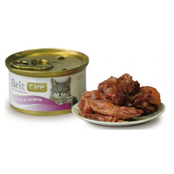 Brit Care Pisica Tuna and Salmon conserva 80 gr