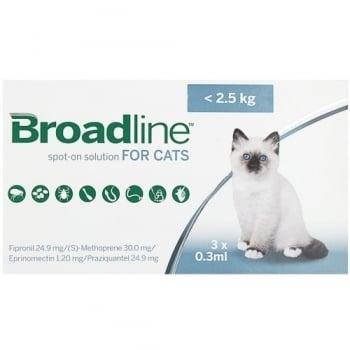 Broadline Cat S, < 2.5 kg, 3 pipete