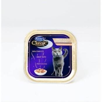 Pachet Butcher's Cat Pro S Delicious Dinner, Somon, 6x100 g