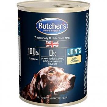 Pachet Butchers's Dog Blue Joints, Pui, 6x400 g