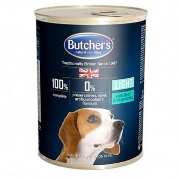 Pachet Butchers's Dog Blue Light, Vita si Legume, 6x400 g