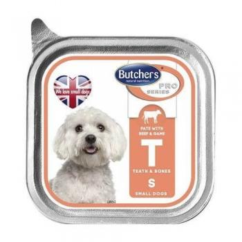 Butcher's Dog Pro Series Pate, Talie Mica si Medie, Vita si Vanat, 150 g imagine
