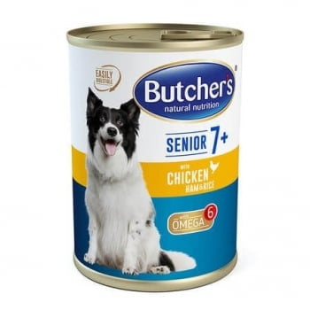 Butcher's Dog Senior 7+, Pate, Pui, Sunca si Orez, 400 g