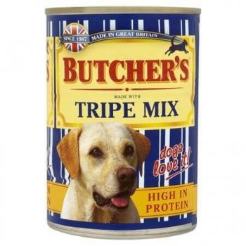Pachet Butcher's Dog Tripe Mix, 6x400 g