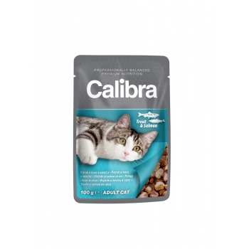 Calibra Cat Pouch Trout and Salmon in Sauce 100 g