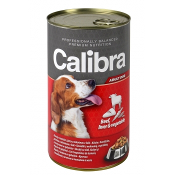 Calibra Dog Conserva Beef Liver and Vegetables in Jelly 1240 g imagine