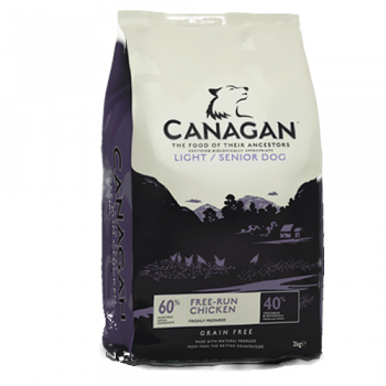Canagan Dog Grain Free Light si Senior 12 kg