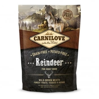 CARNILOVE Adult S-XL, Ren, hrană uscată fără cereale câini, 1.5kg