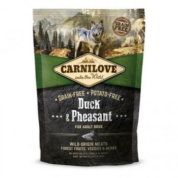 CARNILOVE Adult S-XL, Rață și Fazan, hrană uscată fără cereale câini, 1.5kg