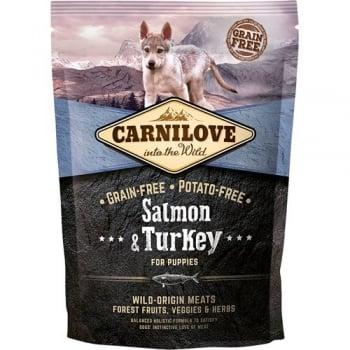 CARNILOVE Junior S-XL, Somon și Curcan, hrană uscată fără cereale câini junior, 1.5kg