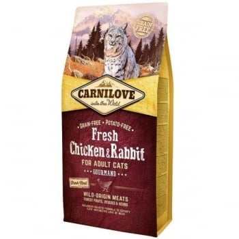 Carnilove Fresh Chicken and Rabbit for Adult Cats 6 kg imagine
