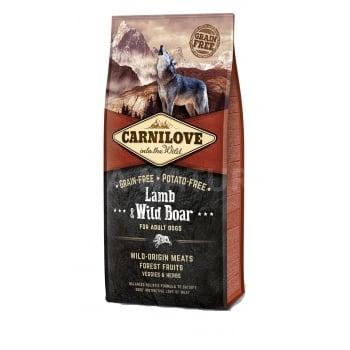 CARNILOVE Adult S-XL, Miel și Mistreț, pachet economic hrană uscată fără cereale câini, 12kg x 2