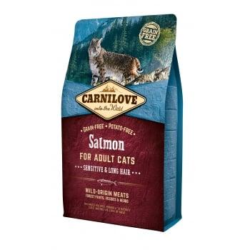 Carnilove Cat Sensitive & Long Hair cu Somon,6 kg