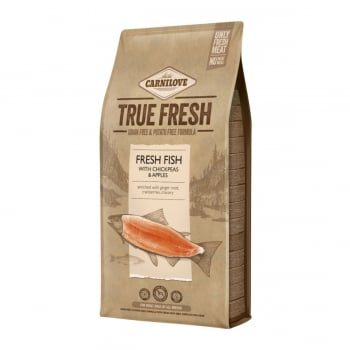 CARNILOVE True Fresh Adult S-XL, Pește proaspăt cu năut și mere, hrană uscată fără cereale câini, 11.4kg