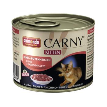 Carny Kitten Vita si Inimi de Curcan 200 g