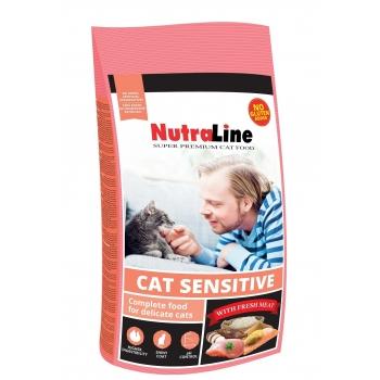 Nutraline Cat Adult Sensitive 400 g imagine