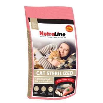 Nutraline Cat Sterilized, 10 kg imagine