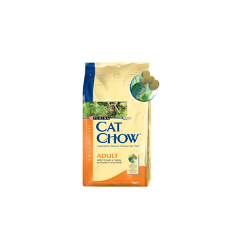 Cat Chow Adult Pui si Curcan 400 g