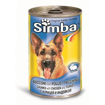 Conserva Simba Dog cu Pui si Curcan 1230 g