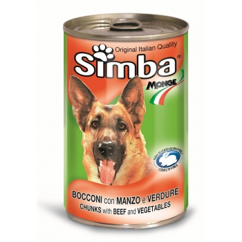 Conserva Simba Dog cu Vita si Legume 1230 g