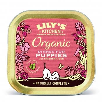 Conserva Caini Lily's Kitchen Puppy Organic cu Pui si Legume, 150 g imagine