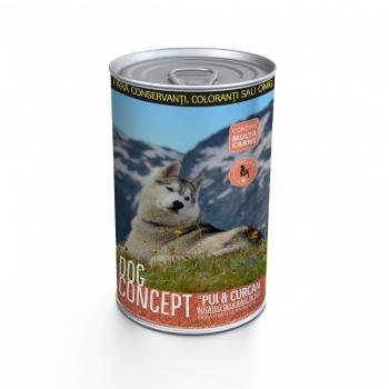 Dog Concept Conserva Pui si Curcan, 1240 g
