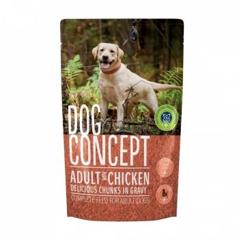 Pachet 4 plicuri Dog Concept cu Pui, 100 g
