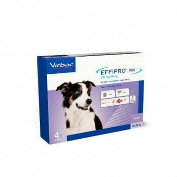 Effipro Duo Dog Virbac M (10-20 kg), 4 pipete