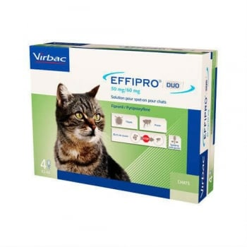 Effipro Duo Cat Virbac, 50 mg, 4 pipete
