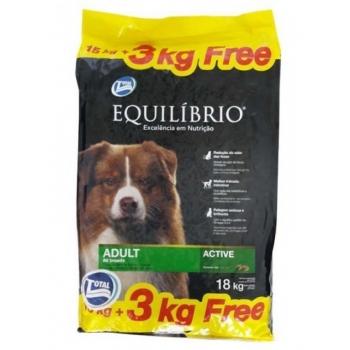 Equilibrio Adult Dog, 15 Kg + 3 Kg Gratis