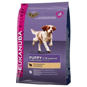 Eukanuba Puppy All Breed Miel si Orez 12 kg
