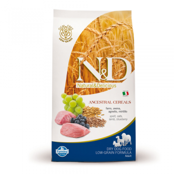 N&D Low Grain Adult Maxi Miel si Afine, 12 kg