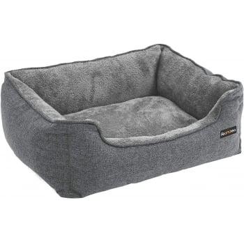 FEANDREA, pat câini și pisici, M, husă detașabilă, gri, 70 x 55 x 21 cm