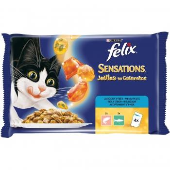Felix Sensations Gelees Multipack Somon si Pastrav, 4x100g