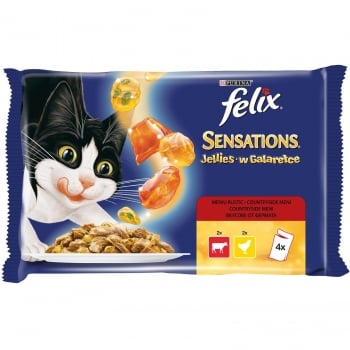 Felix Sensations Gelees Multipack Vita si Pui, 4x100g