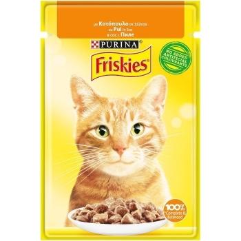 Friskies Cat Adult Pui in Sos, 85 g