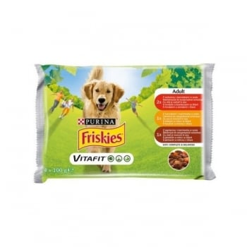 Friskies Dog Adult Multipack, 4 x 100 g